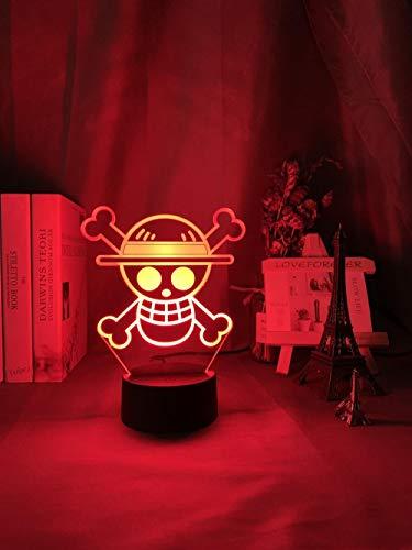 Veilleuse 3D squelette LED 3 motifs et 7 couleurs avec télécommande Meilleur cadeau pour les enfants filles garçons
