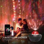 sjzwt Coloré Starry Sky Galaxy Projecteur Control Player Lecteur de Musique LED Night Light USB Chargement de la Lampe de Projection (Color : 05 NO Voice Control)
