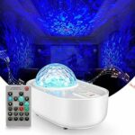 ZINE Projecteur pour Bedroom Adult, LED Galaxy Lamp Cloud Moon Real Star Wave Ocean Space Water Sensory Lights, Bluetooth Starlight Sky Lite Toddler Room Kids Night Light Remote