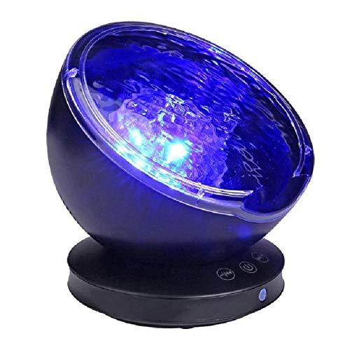 AQHXLS Voie de Projection de l'onde océanique, Haut-parleurs de Musique intégrés, Chambre Mignonne et Confortable projecteur Aurora Galaxy, adapté aux Enfants et Chambres Adultes étanche