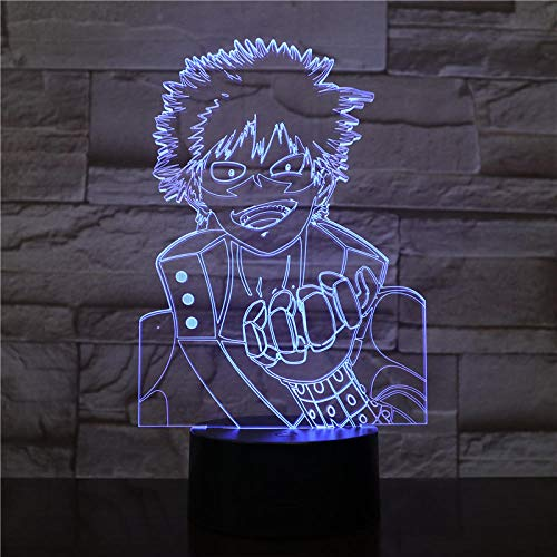HXFGL Veilleuses 3D Anime personnages 7 couleur veilleuse LED lampe de table salon décoration cadeau exquis pour les enfants