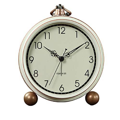 Yangoo Réveils Silencieux pour Enfants Veilleuse de Chevet Horloge de Réveil Musical Mini Réveil de Voyage Mignon Réveil de Bureau Silencieux Cadeau pour Garçons Filles,A