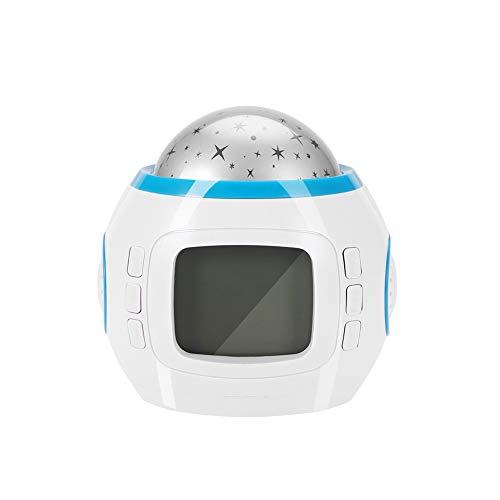Candeon Projecteur lumière Portable étoile Effet Ciel LED Lecteur de Musique projecteur lumière décor à la Maison Lampe Horloge
