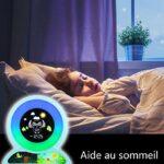 MOREASE Réveil Enfant Lampes de Réveil 5 Couleurs Lumières Réveil Numérique Affichage Réveils Lumineux Affichage de Heure et Température Cadeau pour Enfants