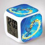 Yyoutop Dessin animé Enfants réveil Jouet Chambre Horloge LED 7 Couleurs Clignotant numérique réveil réveil lumière réveil Table Horloge