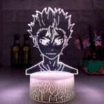 Lampe de nuit 3D Illusion Lampe 3D Lampe Anime Haikyuu Nihinoya Yuu Figurine pour Enfant Chambre Décor Veilleuse RGB Bureau LED Veilleuse Manga Cadeau ZMSY