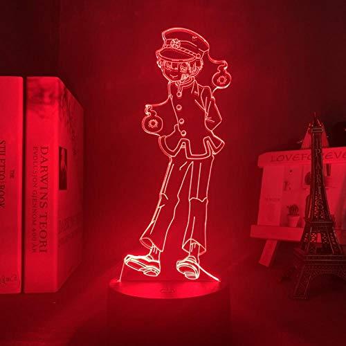 DAJIE Hanako Kun Veilleuse LED pour chambre à coucher – Multicolore – Cadeau 3D – Lampe de toilette attachée hanako kun