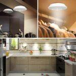 Veilleuse LED Télécommande 5 LED Éclairage d'armoire Spot sans Fil Stick-on Anywhere Tap Lampes de Nuit Batterie Non Incluse – 1 Télécommande 1Lampe, Blanc