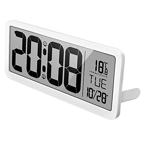 YUTAO Réveil, Horloge Murale Simple et élégante, Horloge de Chambre à Coucher, Horloge de Salon, Grand écran LCD de Bureau, 2 Ensembles de réveils, 14 Pouces