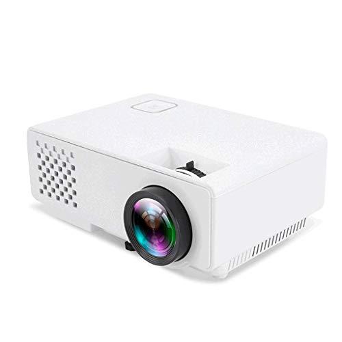 Mini projecteur, 1080P et 30~120 » affichage pris en charge, 1200 Lux Projecteur vidéo portable avec 20 000 heures LED vie de la lampe, Compatible avec VGA, HDMI, USB, AV (Color : Black)