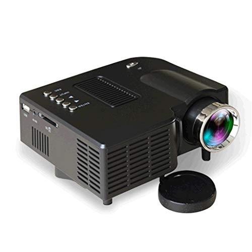 Mini Projecteur 1080P projecteur portable avec 20 000 heures LED vie de la lampe, Maison et extérieur Projecteur Compatible (Color : Black)