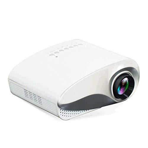 Portable Projecteur vidéo 1080P et 100 » affichage pris en charge, Maison et extérieur Projecteur Compatible avec TV Stick, HDMI, VGA, USB (Color : White)