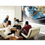 Projecteur vidéo portable avec 30 000 heures LED vie de la lampe, 1080P et 140 « » affichage pris en charge, Maison et extérieur Projecteur Compatible Compatible avec USBx2, VGA, HDMI, AV