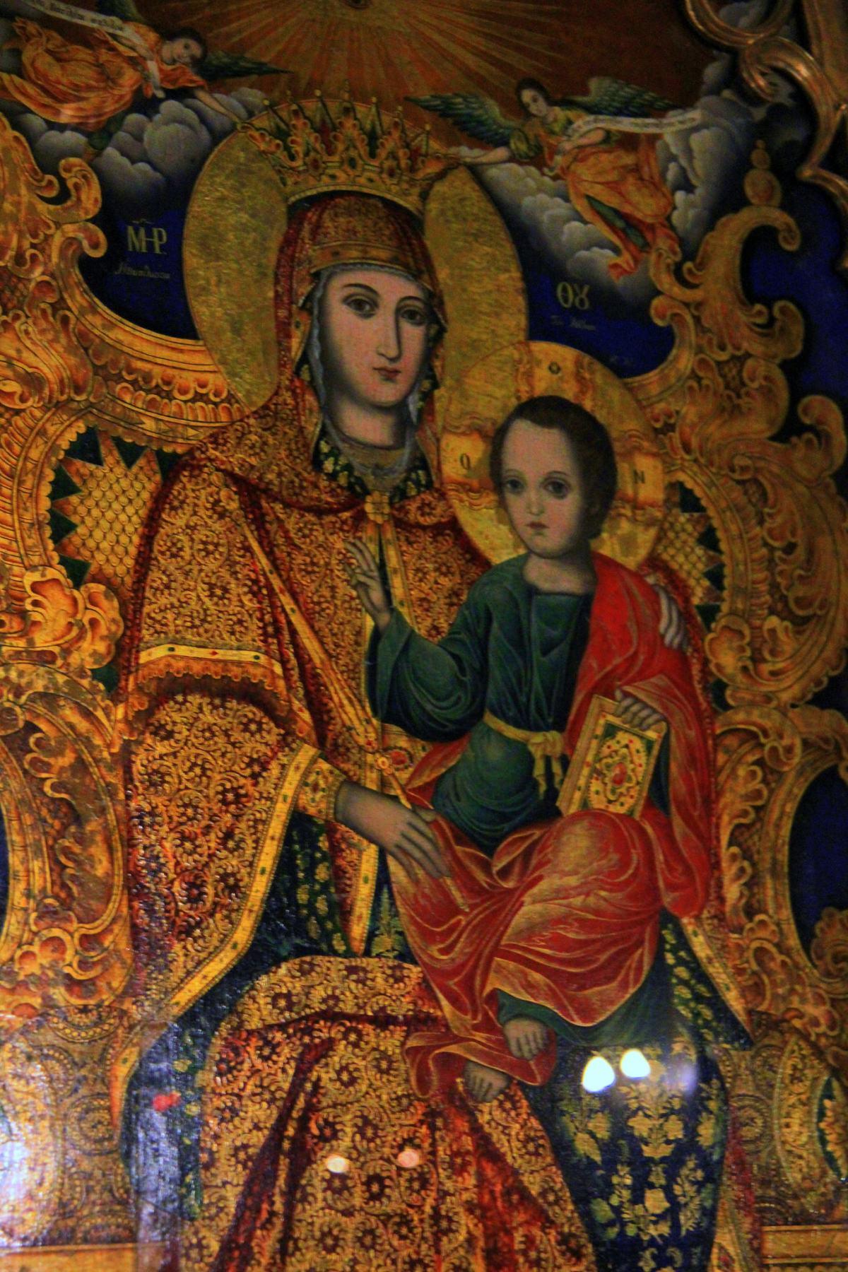 Frescoes at Stavropoleos Monastery in Bucharest Romania