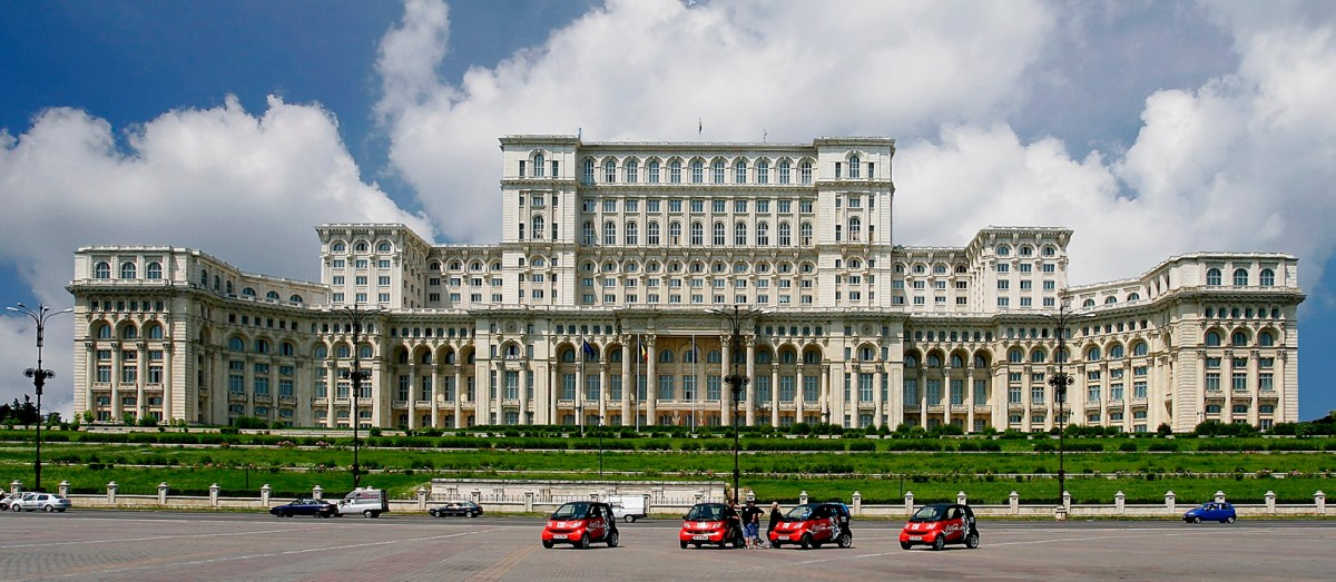 The parliament house in Bucharest Romania