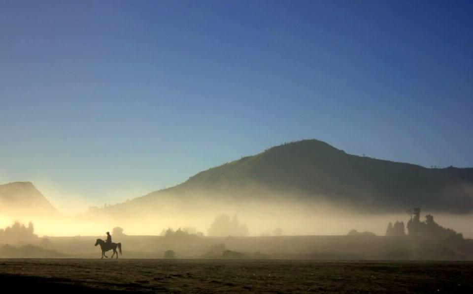 sunrise near mount bromo in indonesia