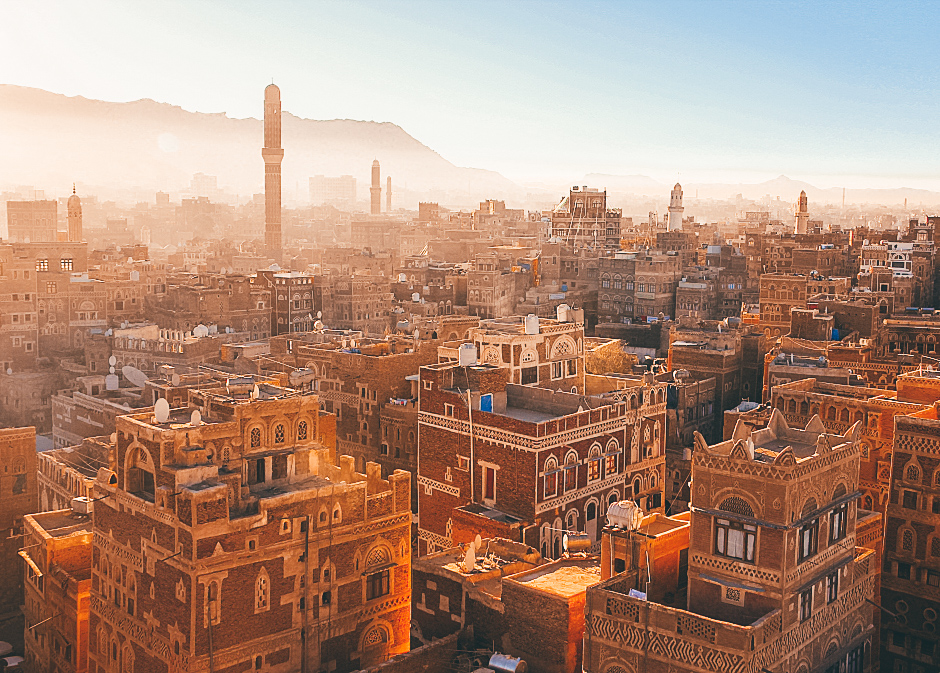 A sunrise over Sanaa