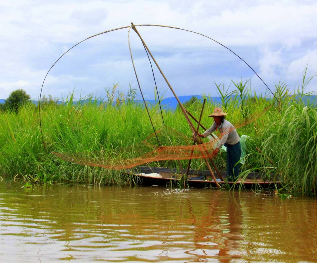 Fishing is a major industry of Indein