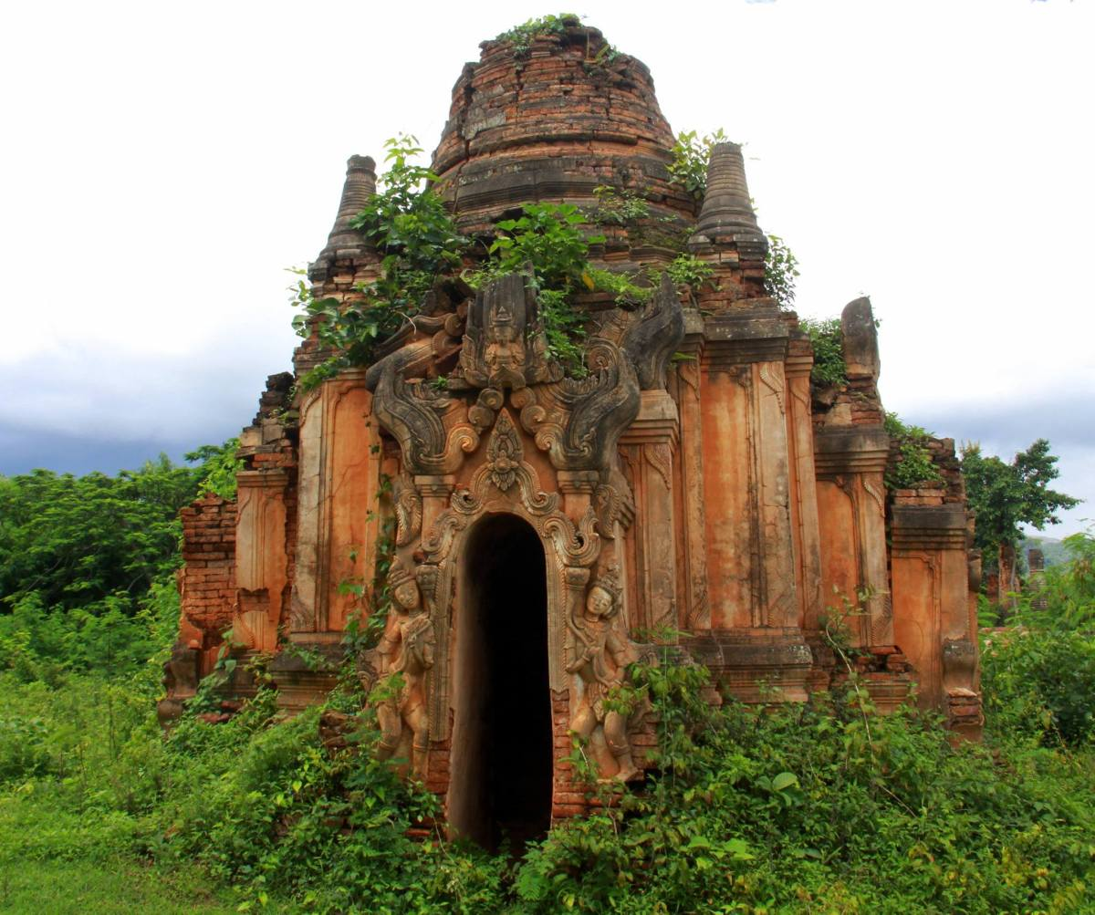 Pagodas of Indein are in various state of ruins