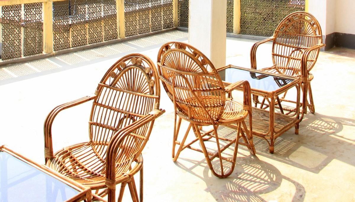 Sunny patio of Amadpur baithakkhana