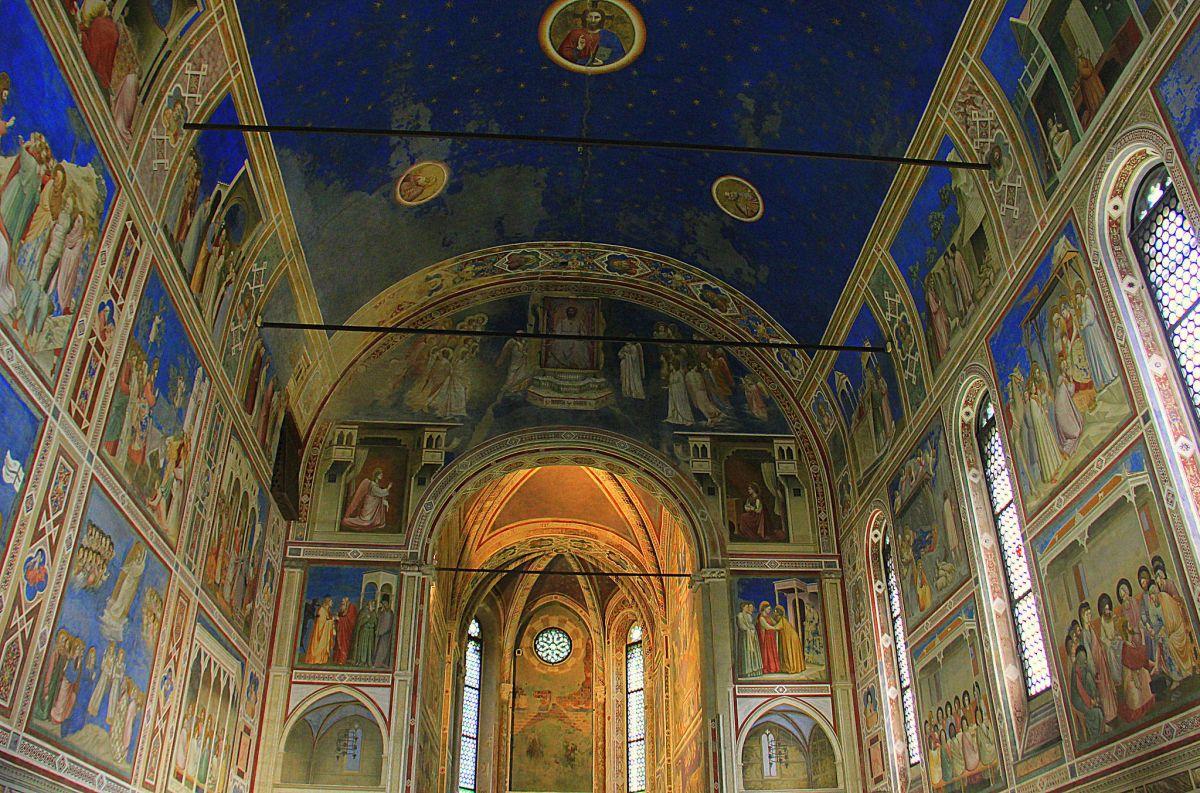 The Scrovegni Chapel in Padua has beautiful frescoes