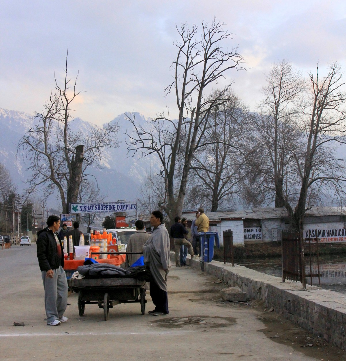 A scene from Kashmir in winter