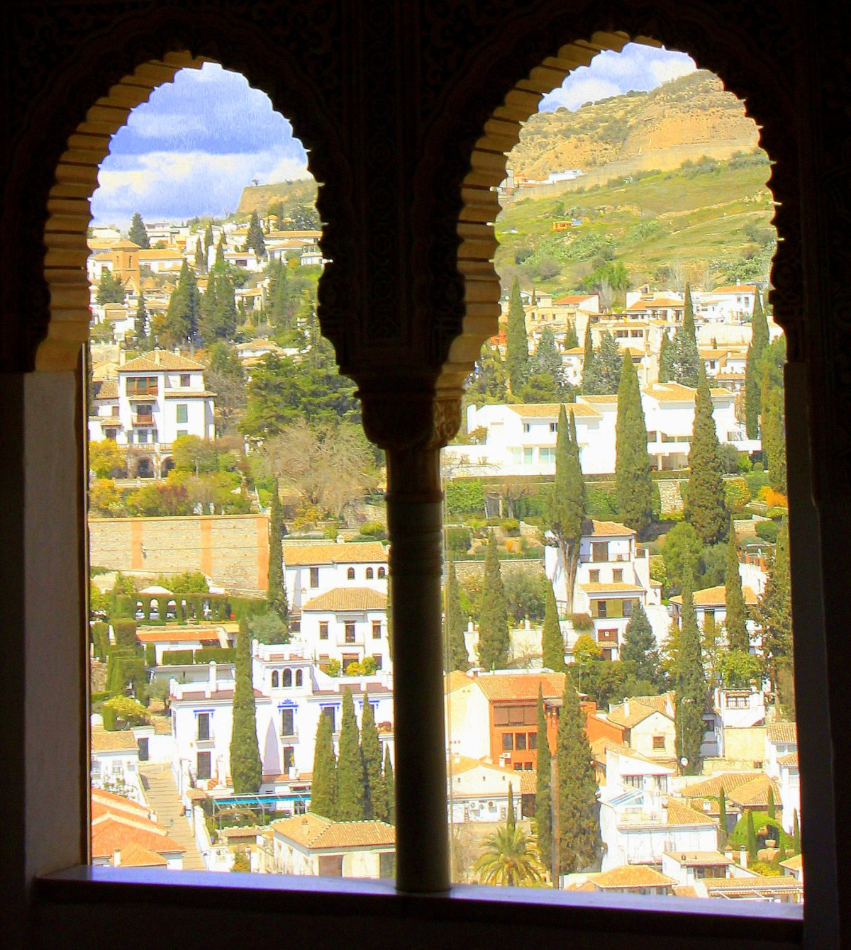 the view from serallo at nasrid palaces