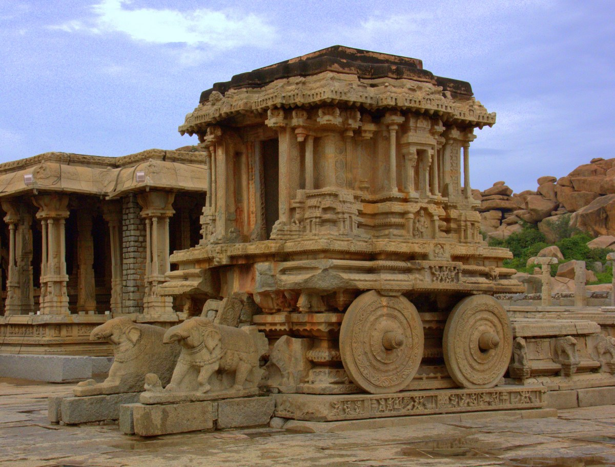 the stone chariot of vittala temple in hampi