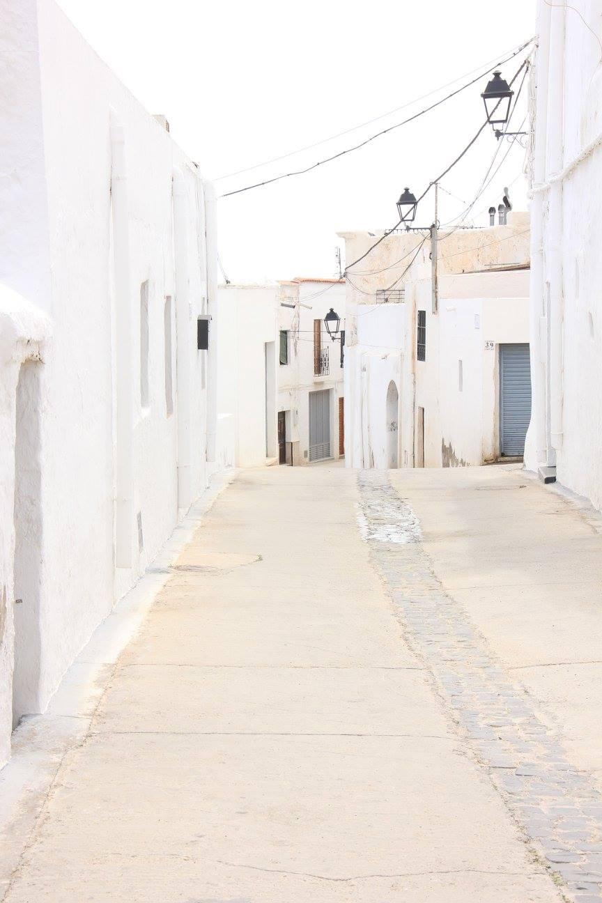 The white village of Nijar lies near Almeria city.