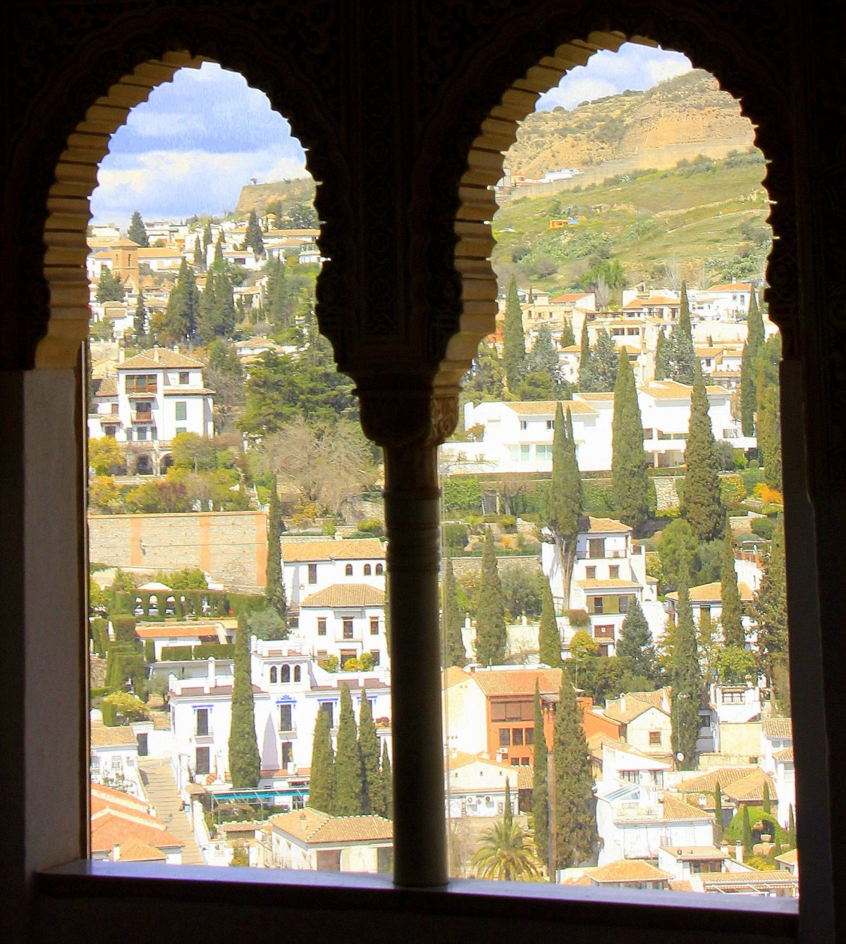a view from nasrid palace in alhambra