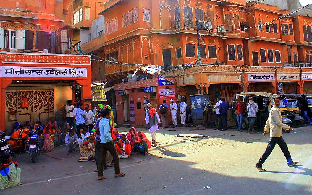 Jaipur street life in the morning