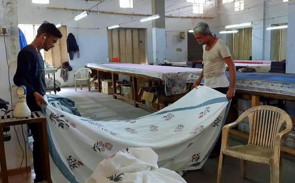 visit a block printing studio during jaipur handicrafts tour