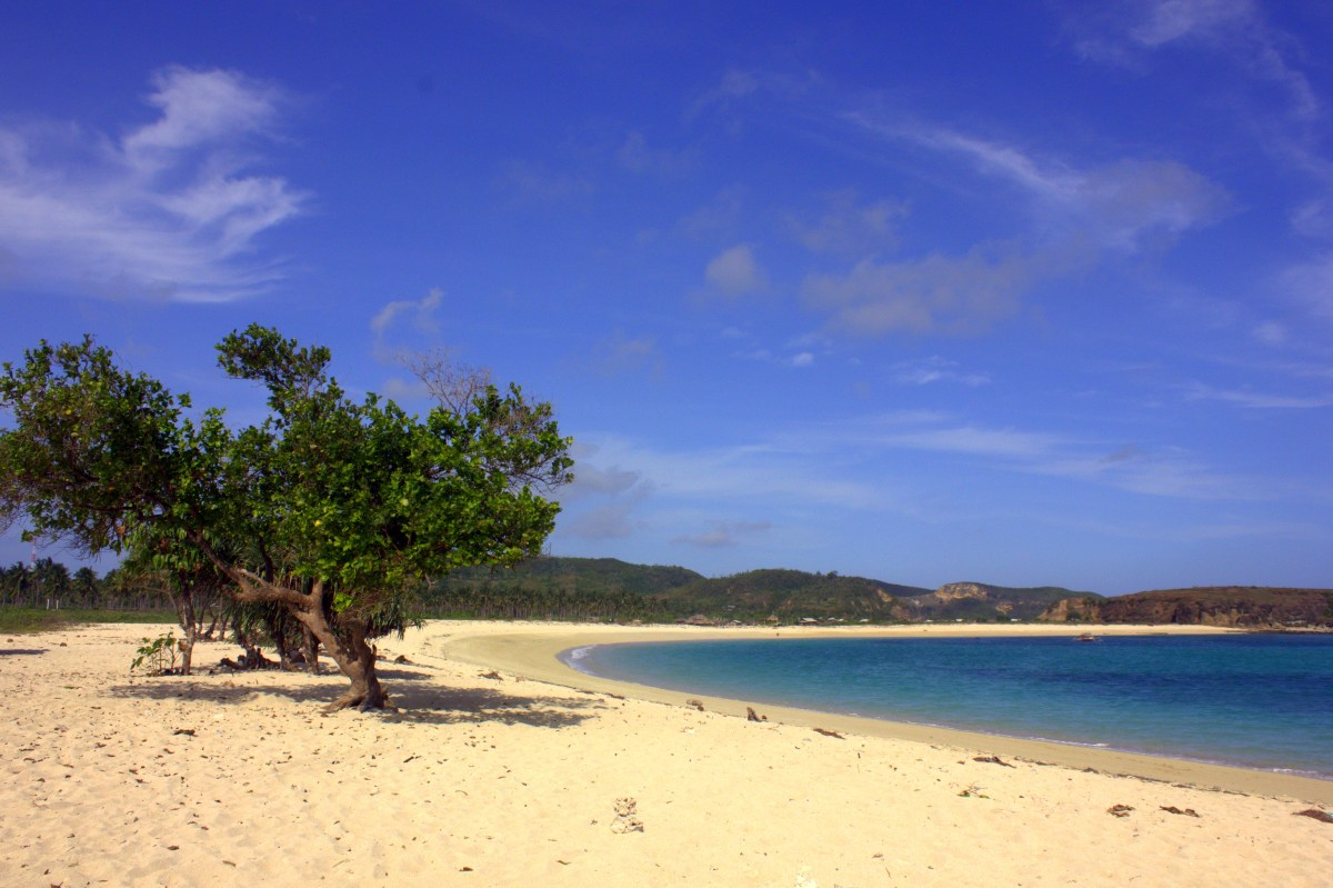 a beautiful beach in kuta in lombok