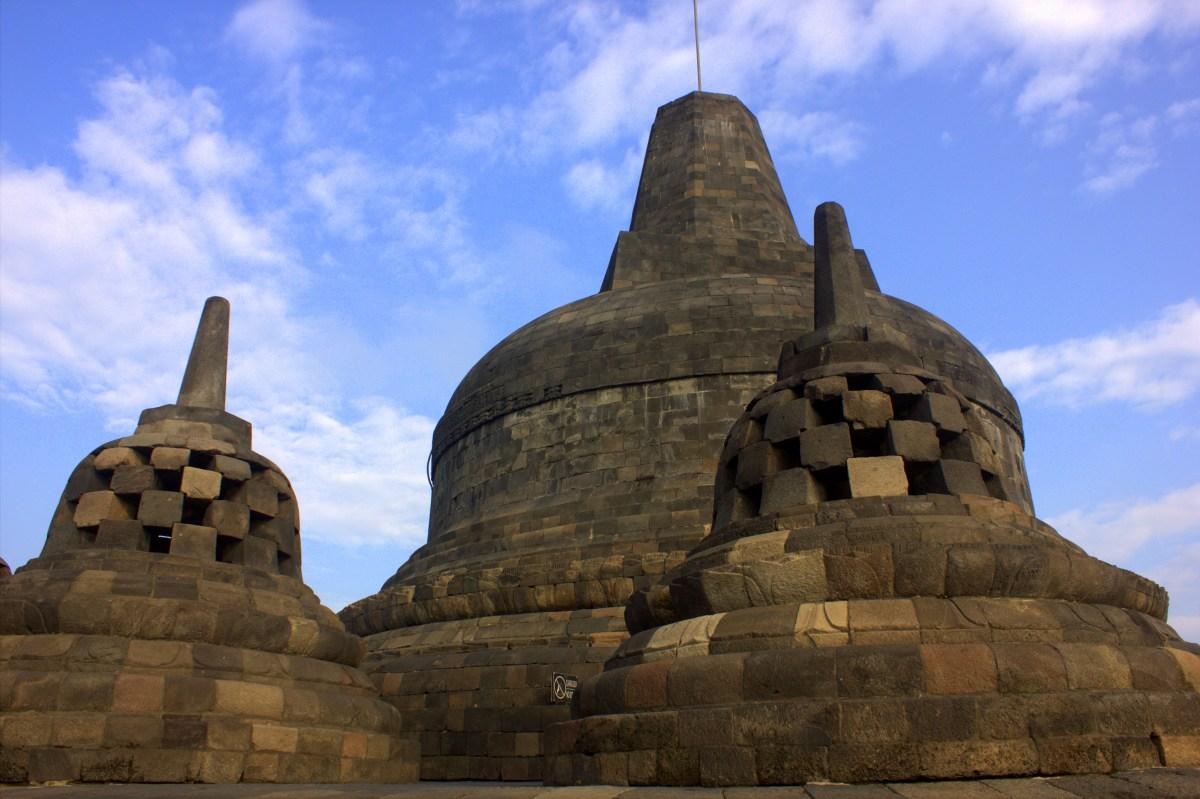 Borobudur is made of andesite stone blocks