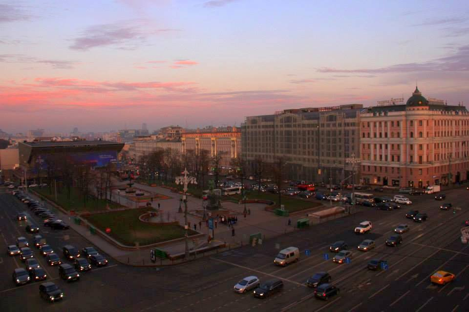 A beautiful Moscow autumn sunset