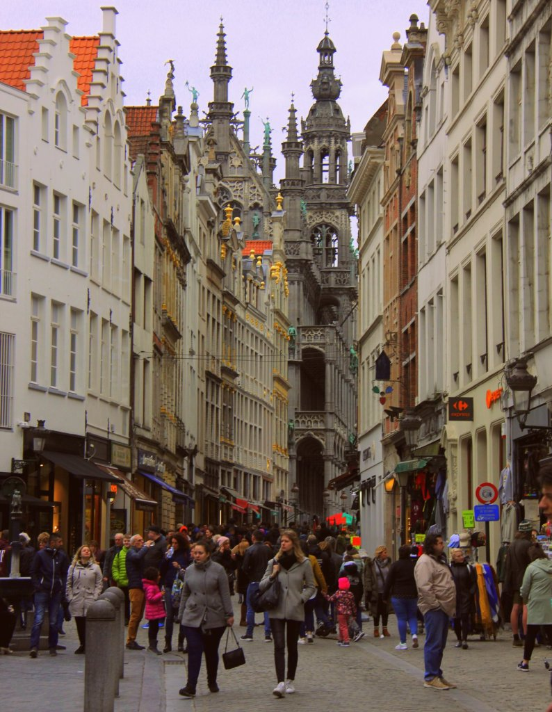 The undeniable medieval cityscape of Brussels is charming