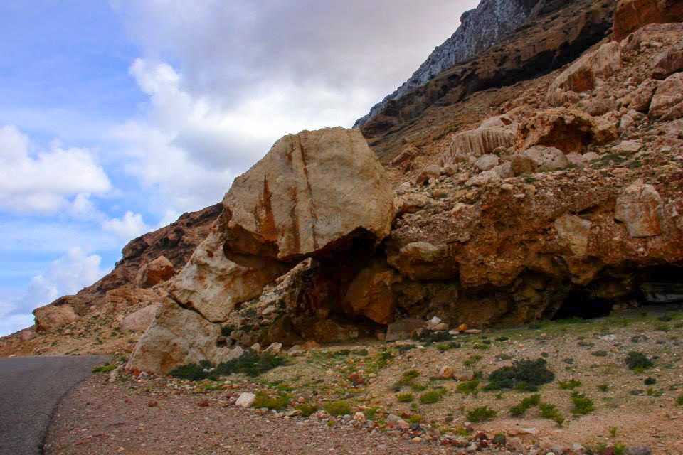 An unique natural rock near Arhar Beach Socotra Yemen