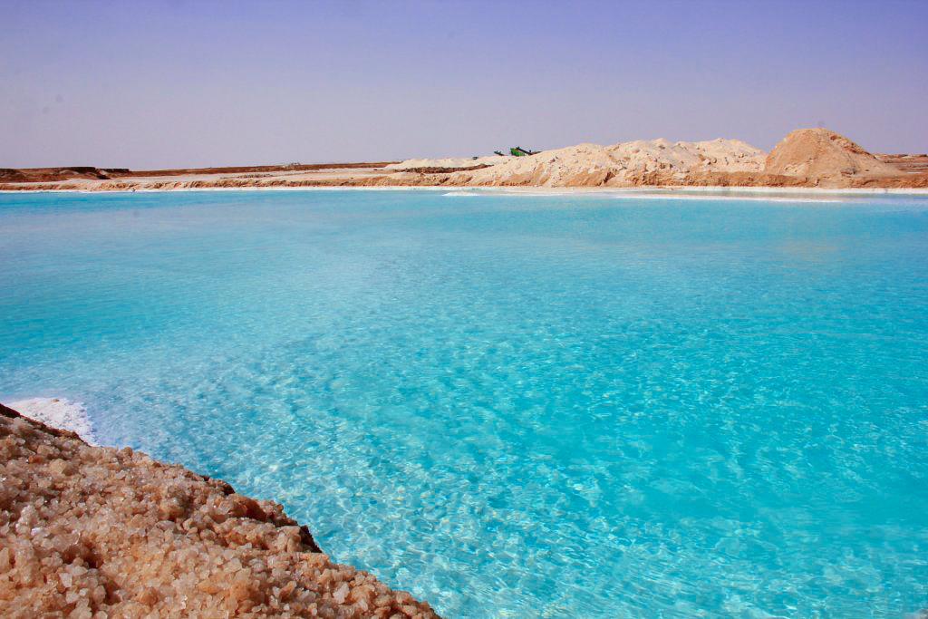 A gorgeous salt lake near Siwa town