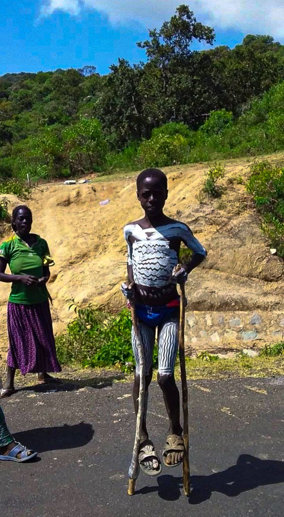 A Karo tribe boy in Ethiopia's Omo Valley