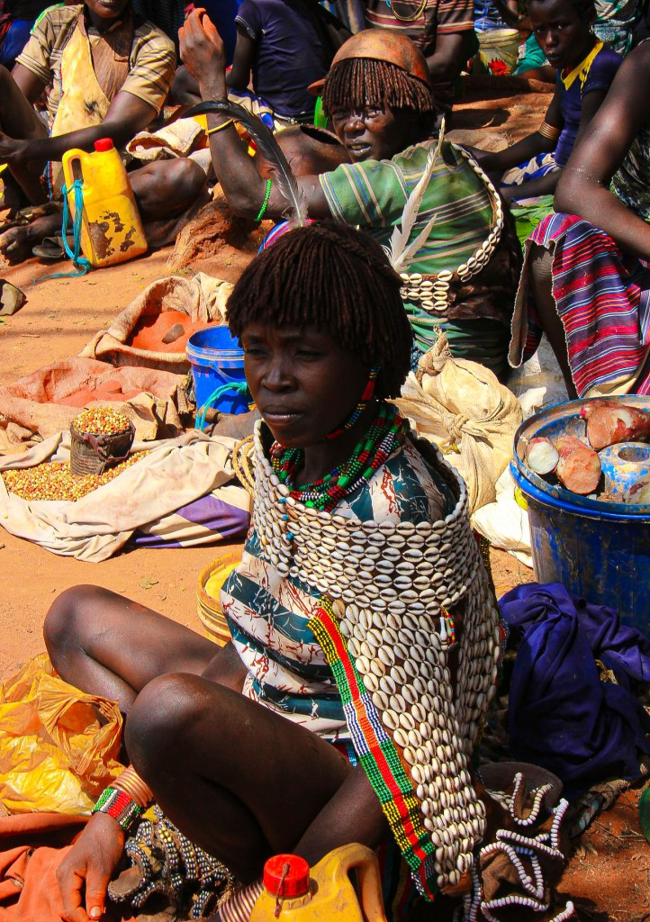 hamar woman at a lower omo valley weekly market