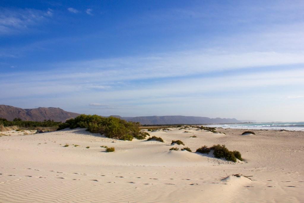 The sugary white sand of Omak