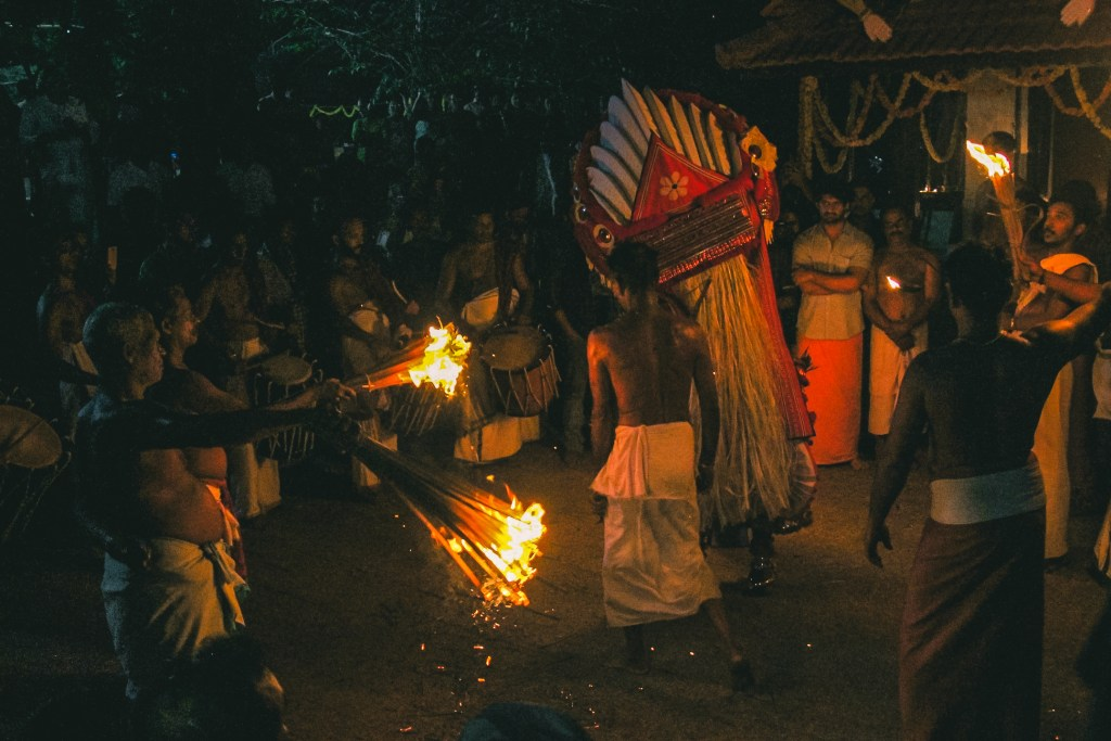 Theyyam ritual has a supernatural effect.