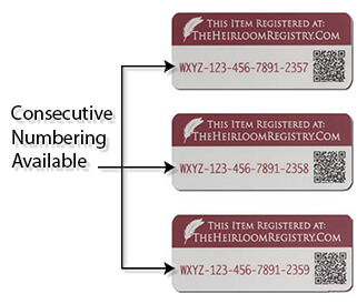QR Code Labels With Consecutive Numbering