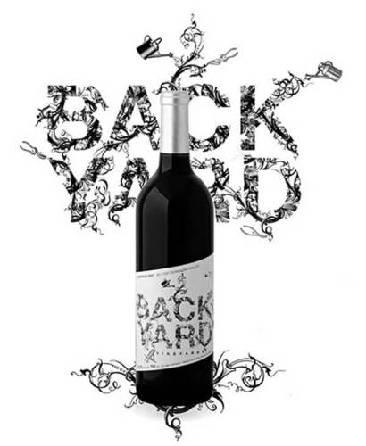 Backyard Vineyards creative wine label