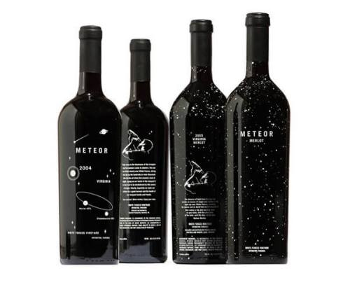 Meteor creative astrological wine labels