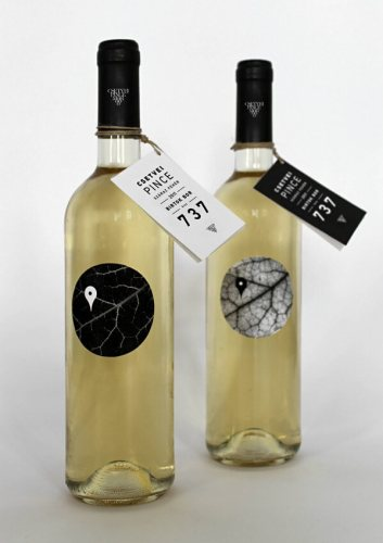 Csetvei Pince creative wine label