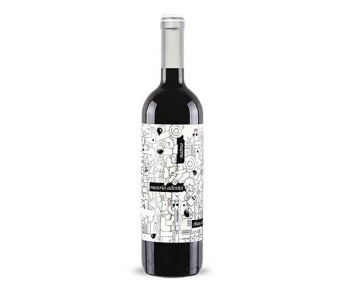 Nuceria Adesivi creative wine label design