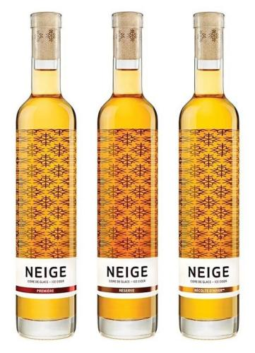 Neige creative wine label design