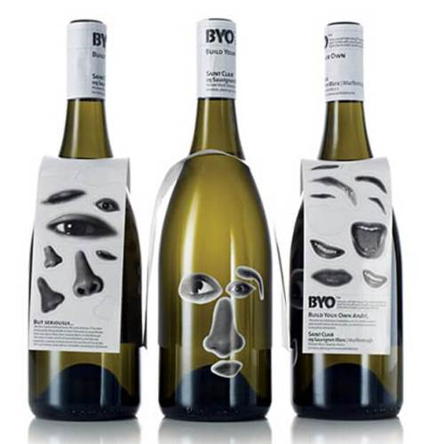 BYO creative wine labels