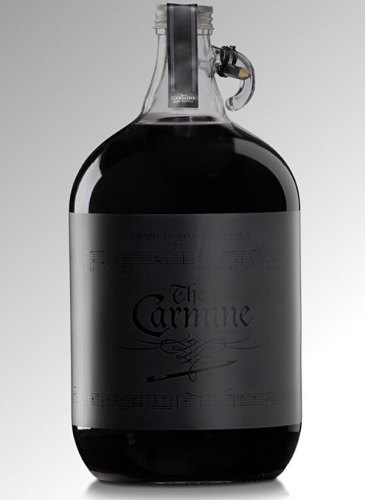 The Carmine creative wine label design